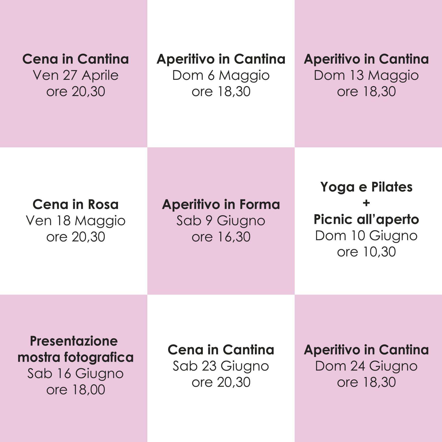 Calendario Eventi.Calendario Eventi Primavera Estate Bonfadini Franciacorta